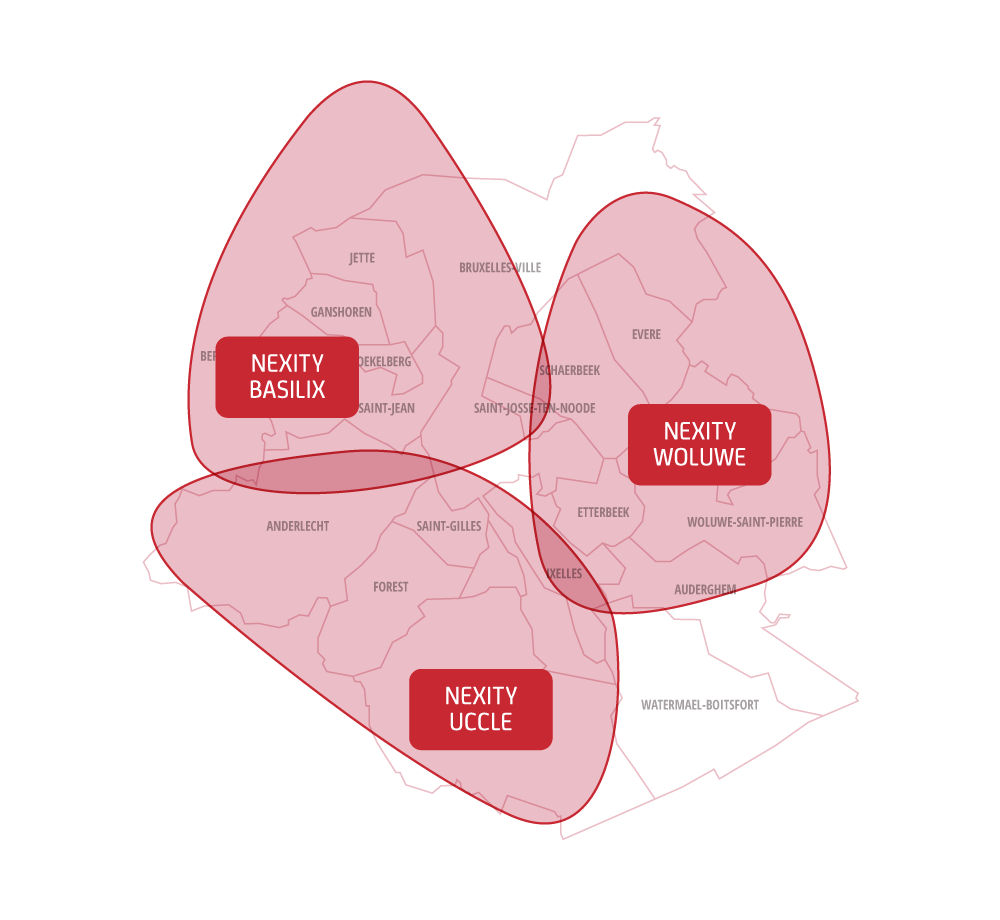 Nexity Brussels agency map